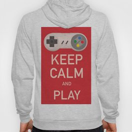 Keep Calm and Play vintage poster Hoody