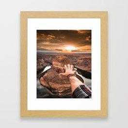 touching the sky Framed Art Print