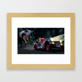 Must Go Faster Framed Art Print