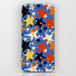 Fun ditsy print with bright colorful stars iPhone Skin