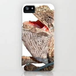 A Chameleon With Open Mouth Isolated iPhone Case