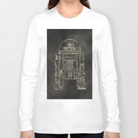 r2d2 Long Sleeve T-shirts featuring R2D2 by LindseyCowley
