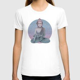 Buddha with cat2 T-shirt