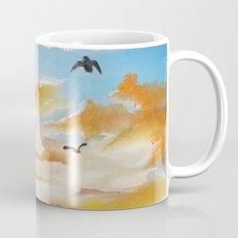 Freedom Sky, Sunset Painting, Freedom Sky Painting, Birds at Sunset Coffee Mug