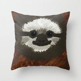 Smilie Sloth Throw Pillow