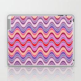 Red Waves Laptop & iPad Skin
