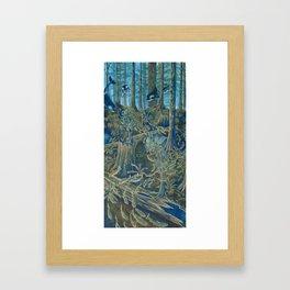Forest Salmon Run  Framed Art Print