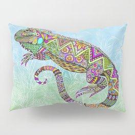 Electric Iguana Pillow Sham