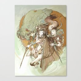 Ancient Centaur War Goddess Canvas Print