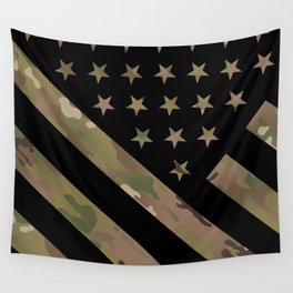 U.S. Flag: Military Camouflage Wall Tapestry