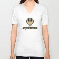 nfl V-neck T-shirts featuring New Orleans Squadrons - NFL by Steven Klock