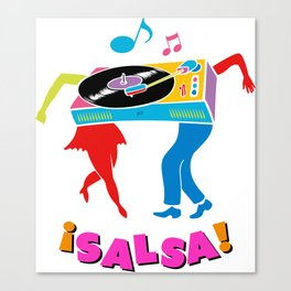 Salsa dance Canvas Print