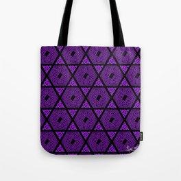 Kagome Greek Fret ... Purple Tote Bag
