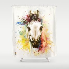 """Into the mirror"" n°2 The horse Shower Curtain"
