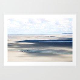 Low Tide at le Mont St. Michel Art Print