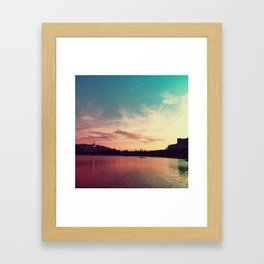 Istanbul Gradient Colors Framed Art Print