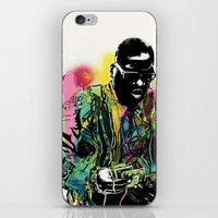 biggie smalls iPhone & iPod Skins featuring Biggie Smalls Spray Paint Illustration by ConorMcClure