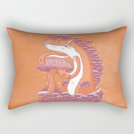 The Mushroom collector Rectangular Pillow