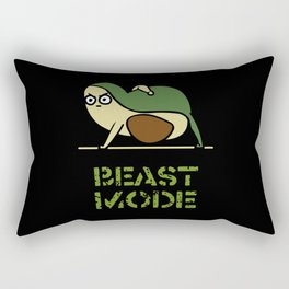 Beast Mode Avocado Rectangular Pillow