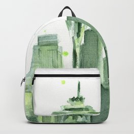 Seattle Watercolor Painting Backpack