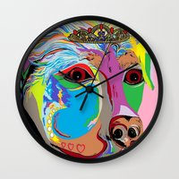 rottweiler Wall Clocks featuring Lady Rottweiler by EloiseArt
