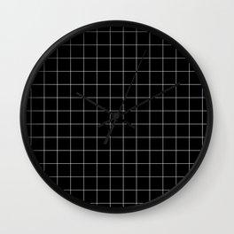 Black Squares Wall Clock