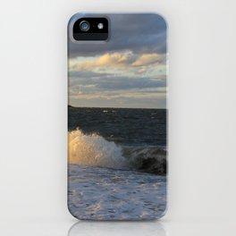 Autumn Crashing Waves iPhone Case