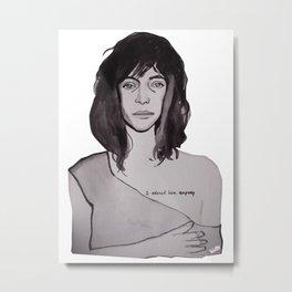 Patti Smith on Richard Mapplethorpe Metal Print
