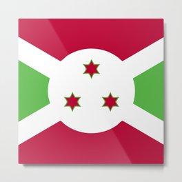 Burundi flag emblem Metal Print