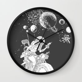 rocket lass Wall Clock