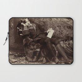 Oscar Wilde Lounging Portrait Laptop Sleeve