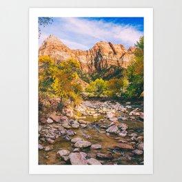 A River in Zion National Park Fine Art Print Art Print