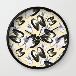 Unio Crassus Pattern in Beige Wall Clock