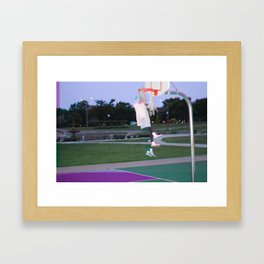 MJ IN EVERYWAY, I JUST DON'T FADE AWAY Framed Art Print