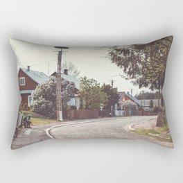 Village on the East Rectangular Pillow