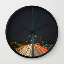Car Lights Wall Clock