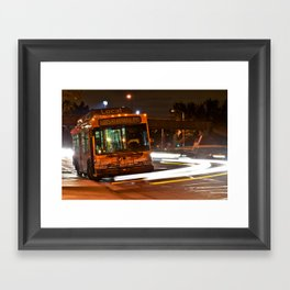 Late Night Bus Ride Framed Art Print