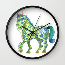 Caballo Serie amimales domésticos colombianos Wall Clock