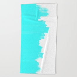Shiny Turquoise balance Beach Towel