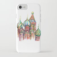 russia iPhone & iPod Cases featuring Russia by Lam Designs