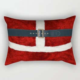 Funny Christmas Santa Costume Cosplay Outfit - Fluffy Red and White with Belt and Buckle Rectangular Pillow