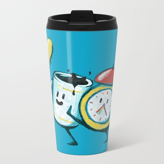 Wake up! Wake up! Metal Travel Mug