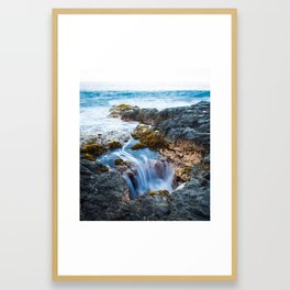Hawaii Big Island Waterflow Framed Art Print