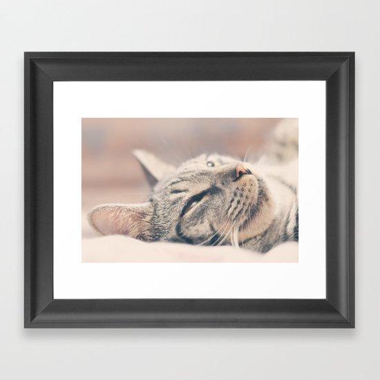 My amazing cat Framed Art Print
