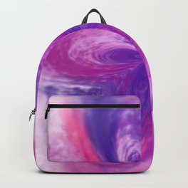 Abstract Fantasy Flower Watercolor Painted Backpack