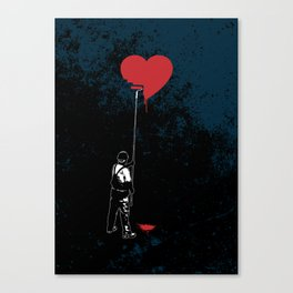 Heart Painter Graffiti Love Canvas Print