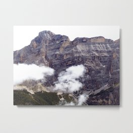Peaks and Clouds Alps Mountains Metal Print
