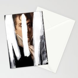 Brutalized Portrait of a Gentleman 2 Stationery Cards