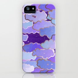 Japanese Clouds, Twilight, Violet and Deep Purple iPhone Case