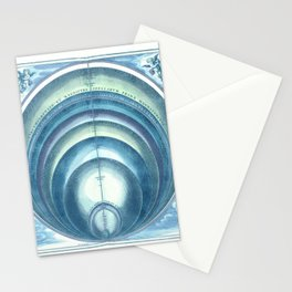 Harmonia Macrocosmica Plate 10 Blue Stationery Cards